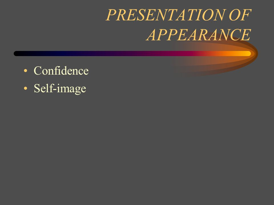 PRESENTATION OF APPEARANCE