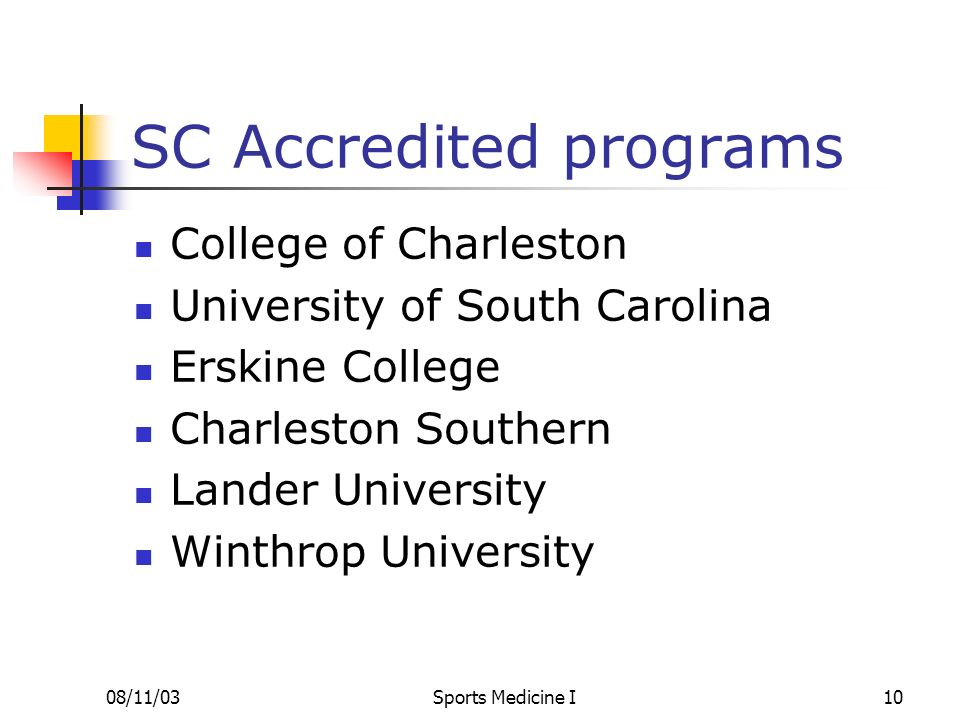 SC Accredited programs
