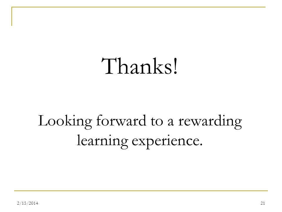Thanks! Looking forward to a rewarding learning experience.