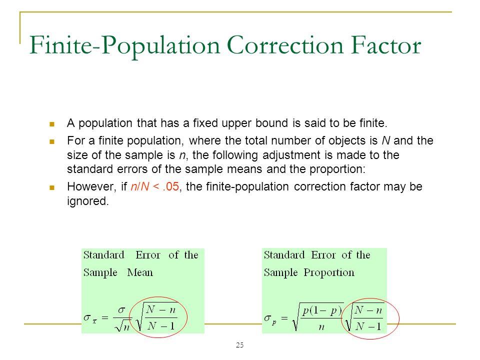 Finite-Population Correction Factor