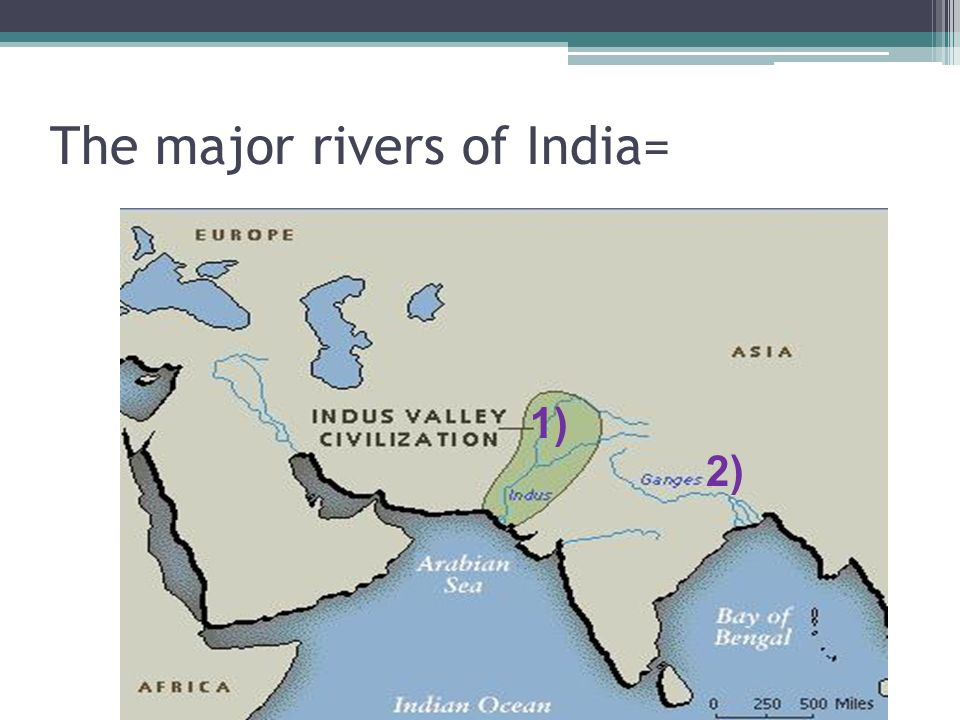 The major rivers of India=