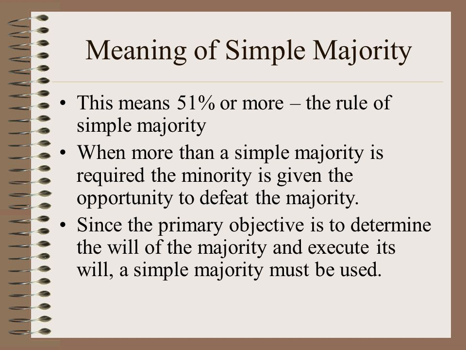 Meaning of Simple Majority