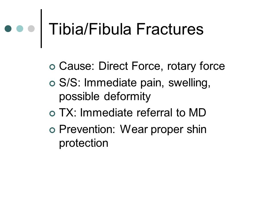 Tibia/Fibula Fractures