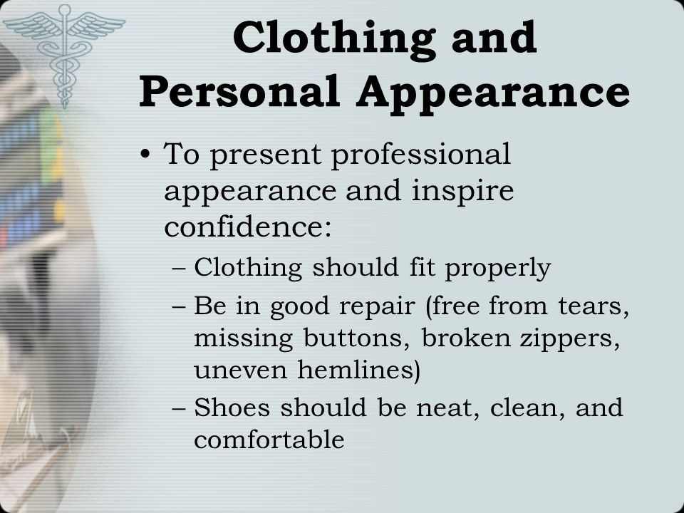 Clothing and Personal Appearance