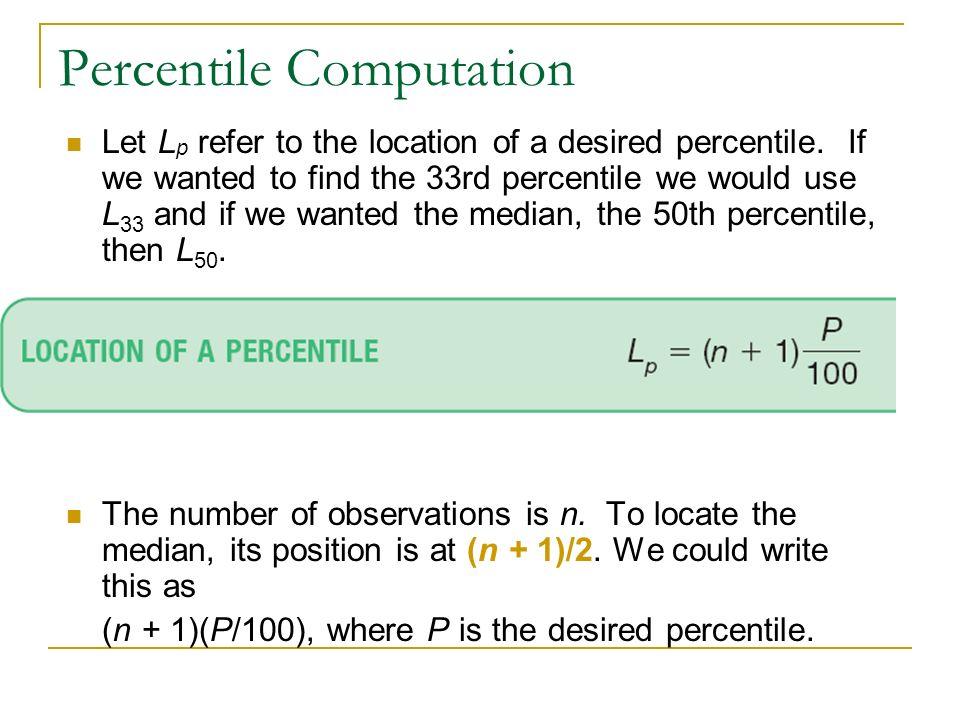 Percentile Computation