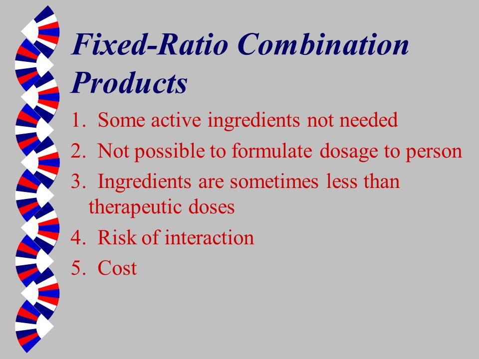 Fixed-Ratio Combination Products