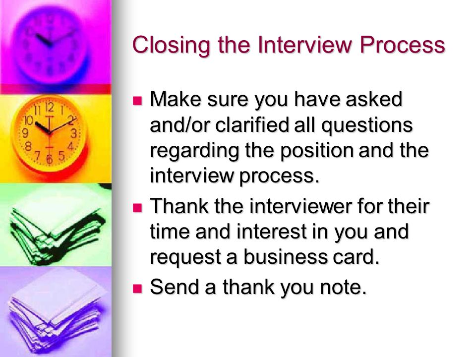 Closing the Interview Process