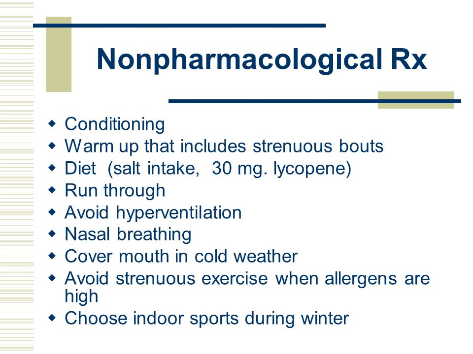 Nonpharmacological Rx