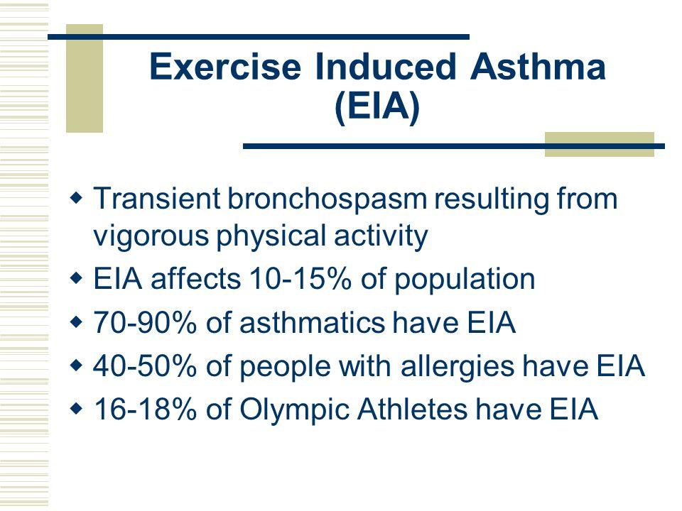 Exercise Induced Asthma (EIA)
