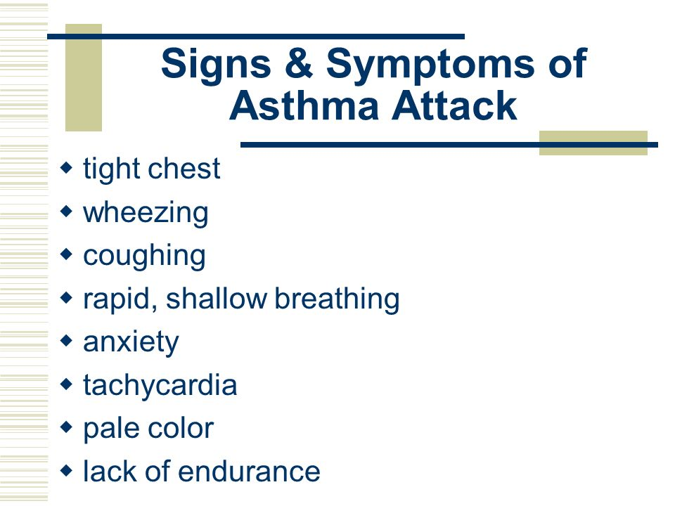Signs & Symptoms of Asthma Attack