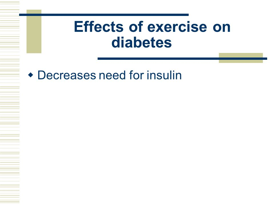 Effects of exercise on diabetes
