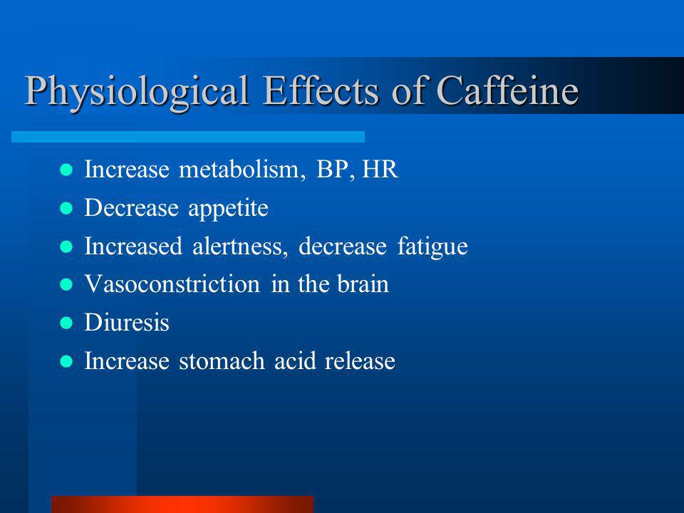 Physiological Effects of Caffeine