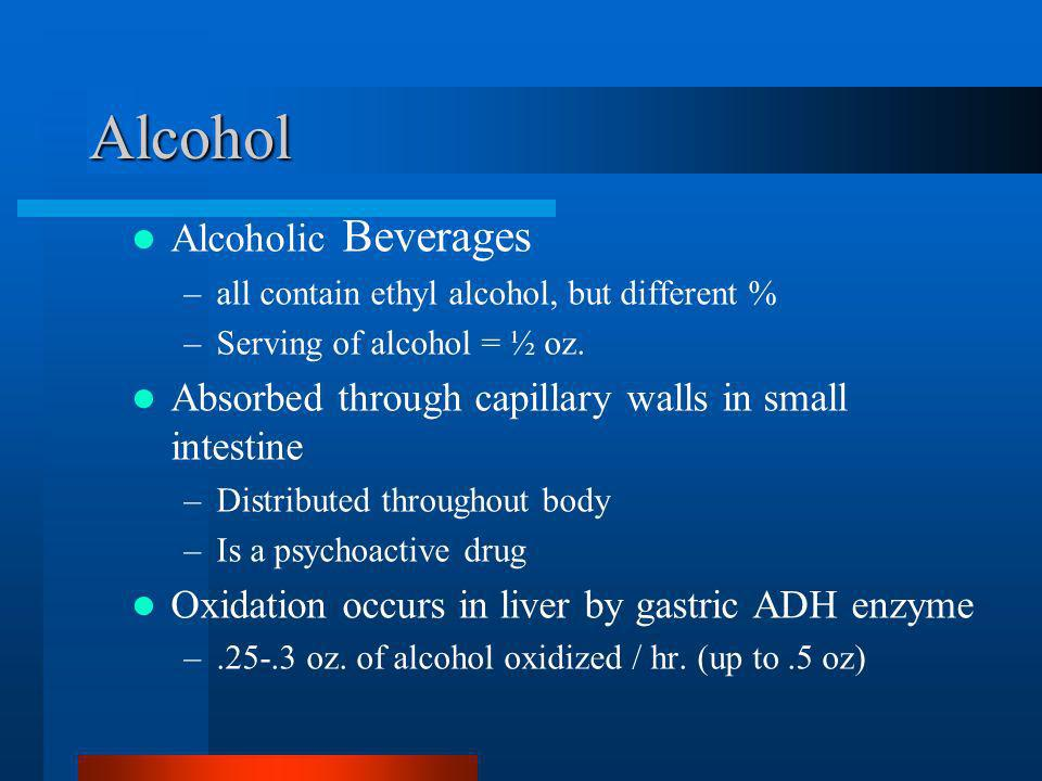 Alcohol Alcoholic Beverages