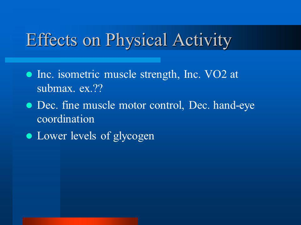 Effects on Physical Activity