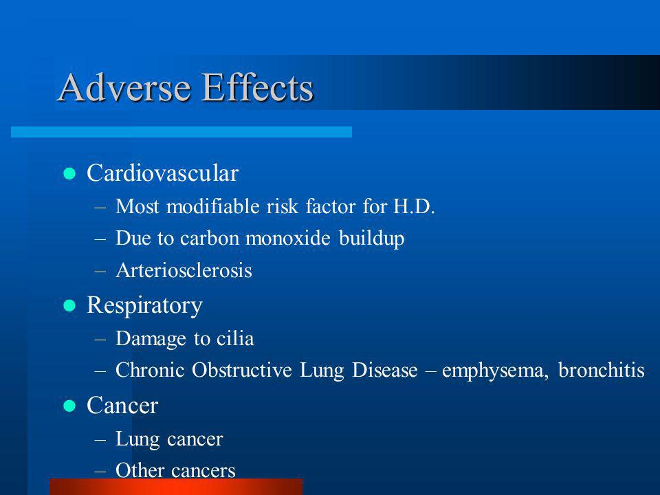 Adverse Effects Cardiovascular Respiratory Cancer