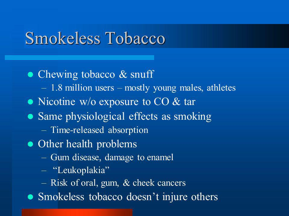 Smokeless Tobacco Chewing tobacco & snuff