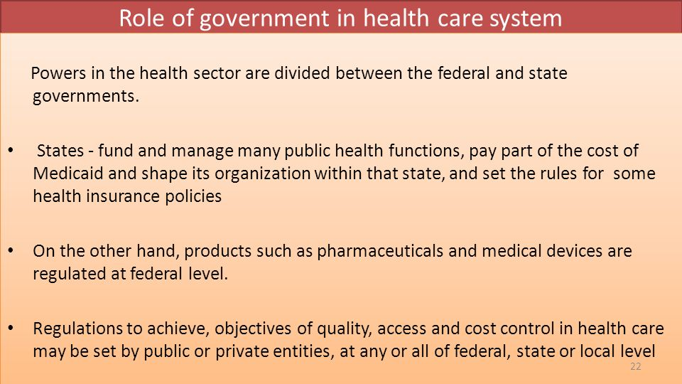 the roles of government in improving health care quality and safety.