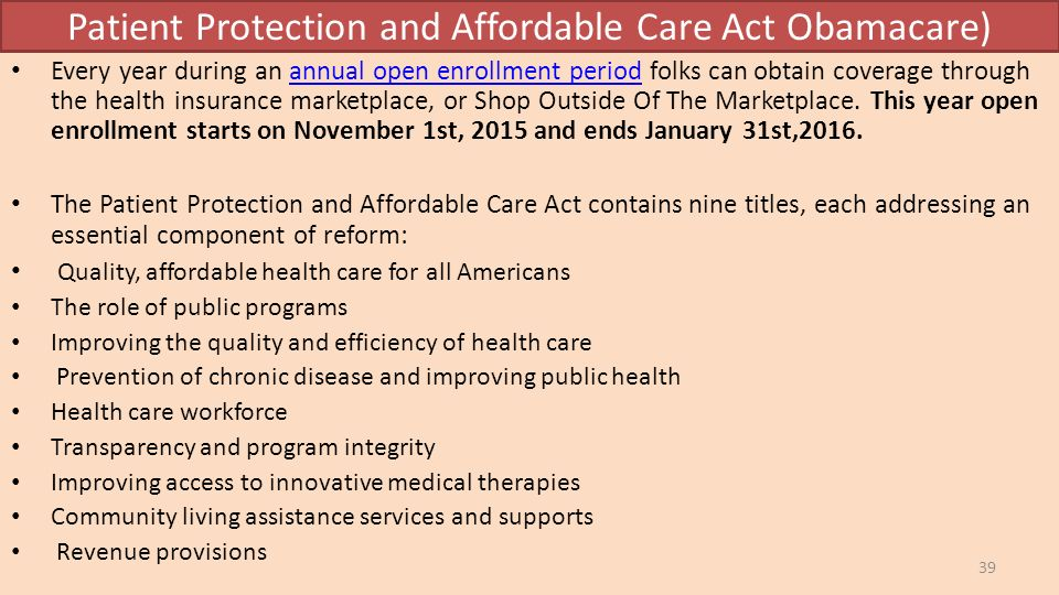 the patient affordable care act The patient protection is one of the most significant concerns that every type of government has been dealing with many people are in need of different kinds.