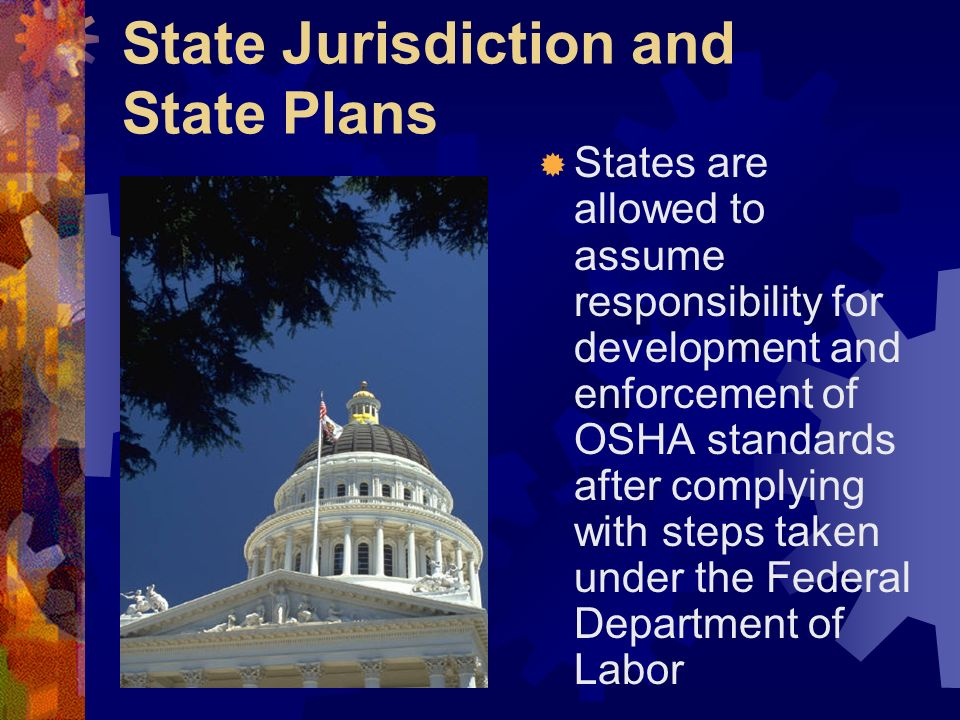 State Jurisdiction and State Plans