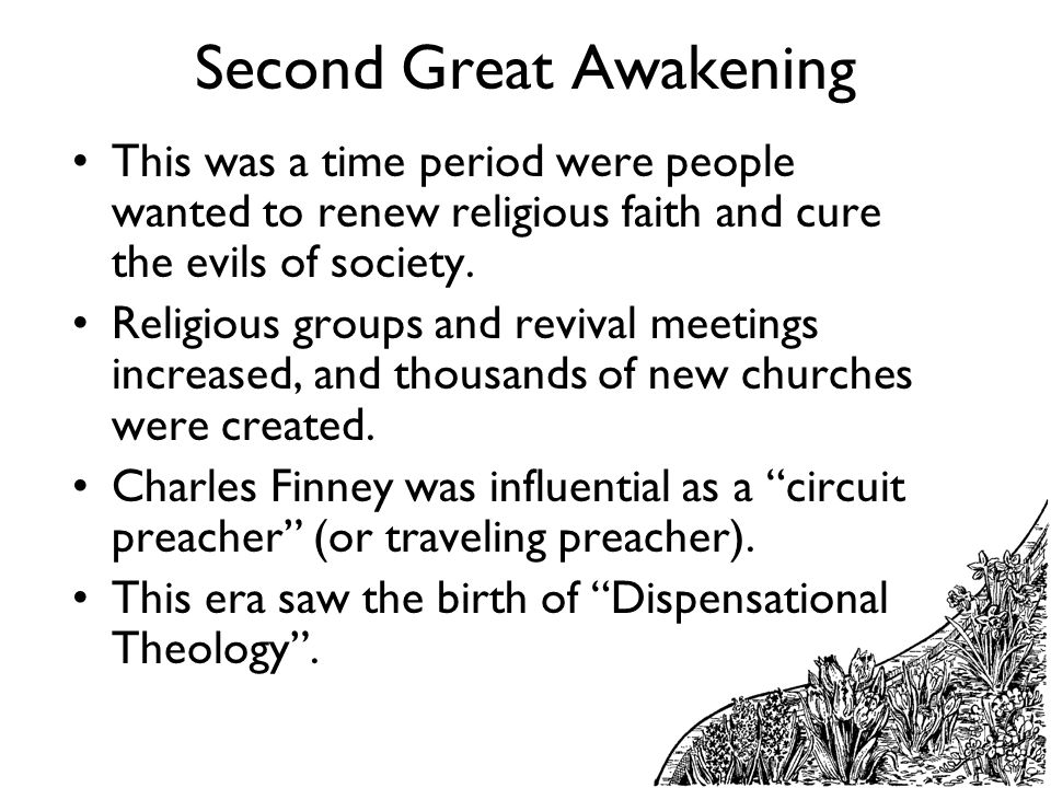 what progress was made by the second great awakening The second great awakening for kids john adams was the 2nd american president who served in office from march 4, 1797 to march 4, 1801 one of the important events during his presidency was the start of the second great awakening, a.
