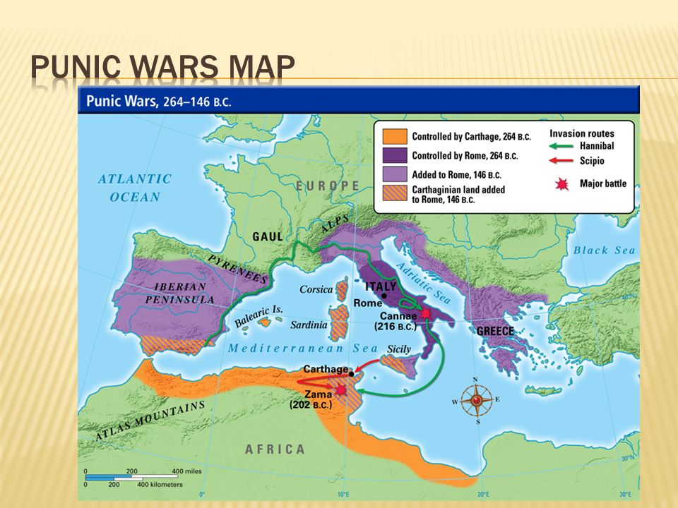 Punic wars map