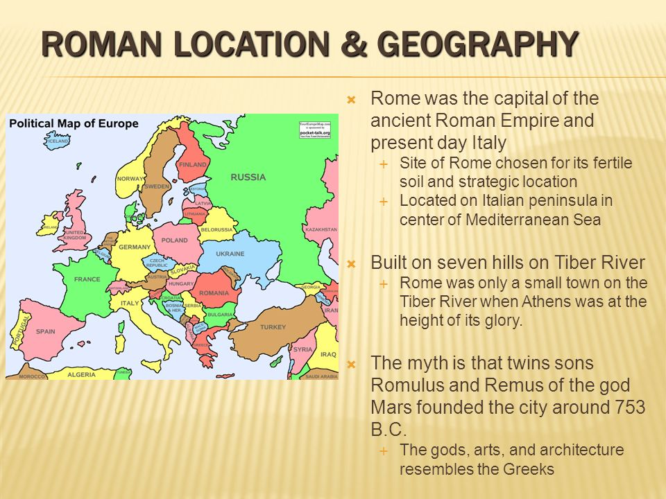 Roman location & geography