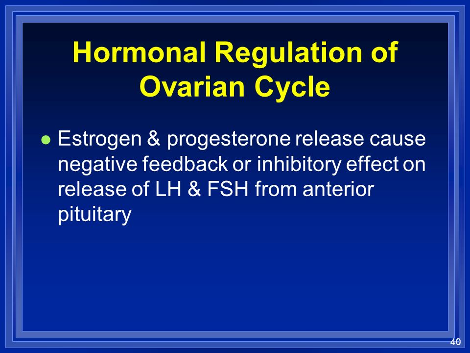 Hormonal Regulation of Ovarian Cycle