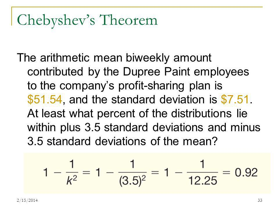 Chebyshev's Theorem