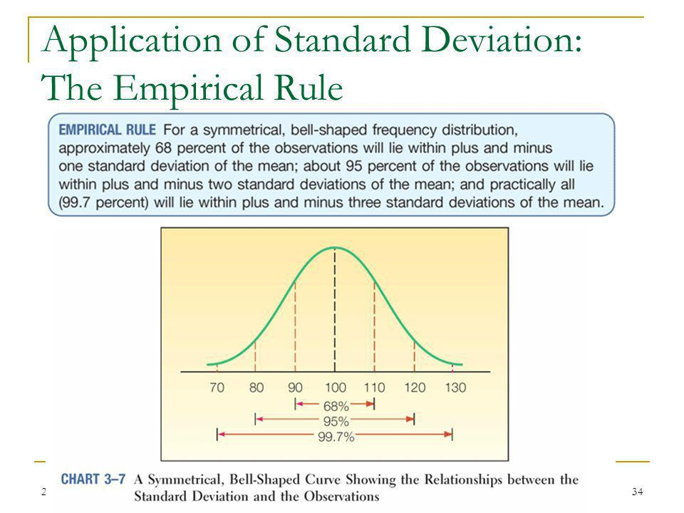 Application of Standard Deviation: The Empirical Rule