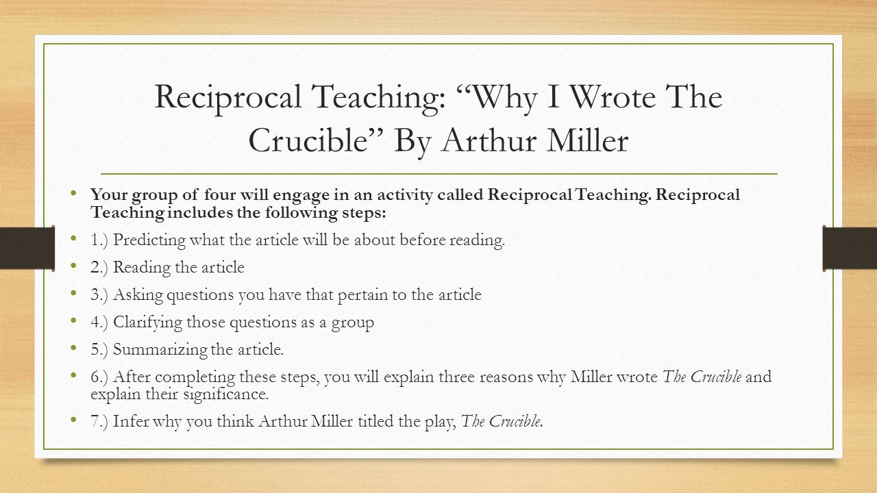 Essay about The Crucible by Arthur Miller