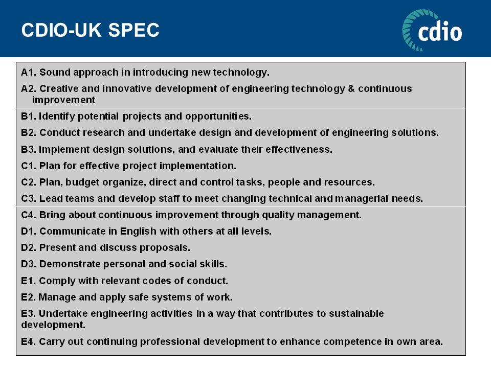 CDIO-UK SPEC