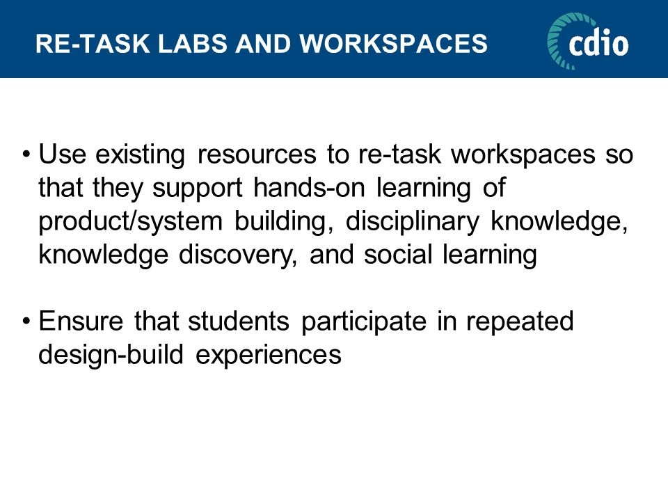 RE-TASK LABS AND WORKSPACES