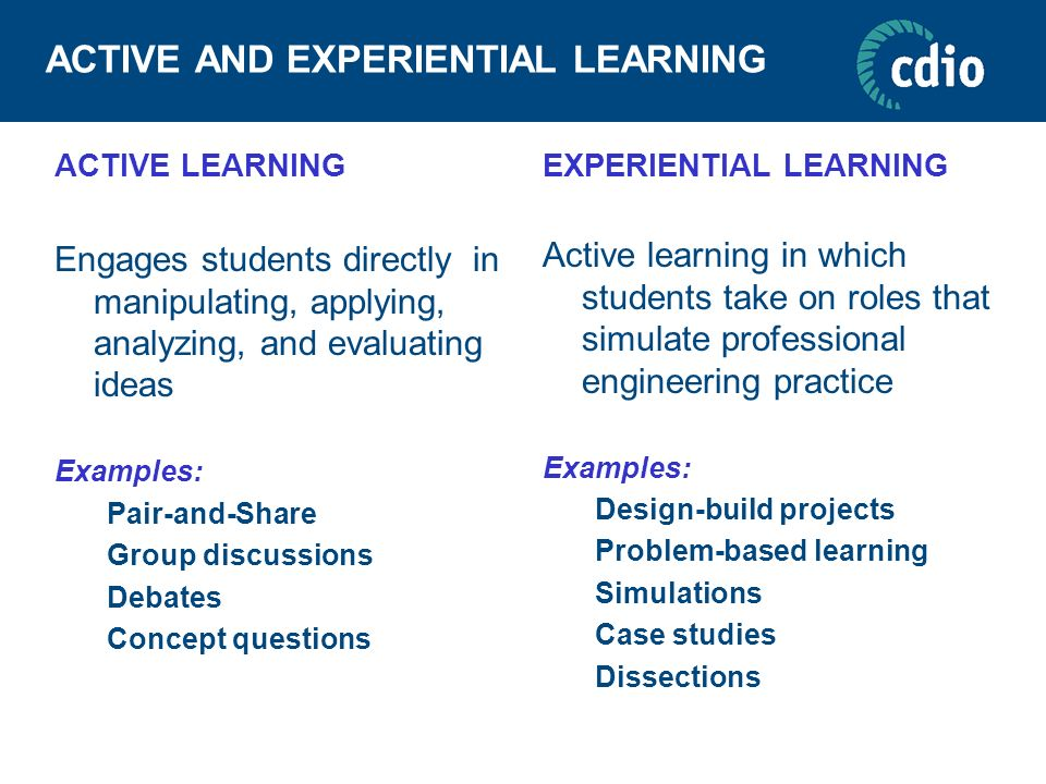 ACTIVE AND EXPERIENTIAL LEARNING
