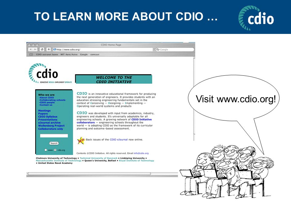 TO LEARN MORE ABOUT CDIO …
