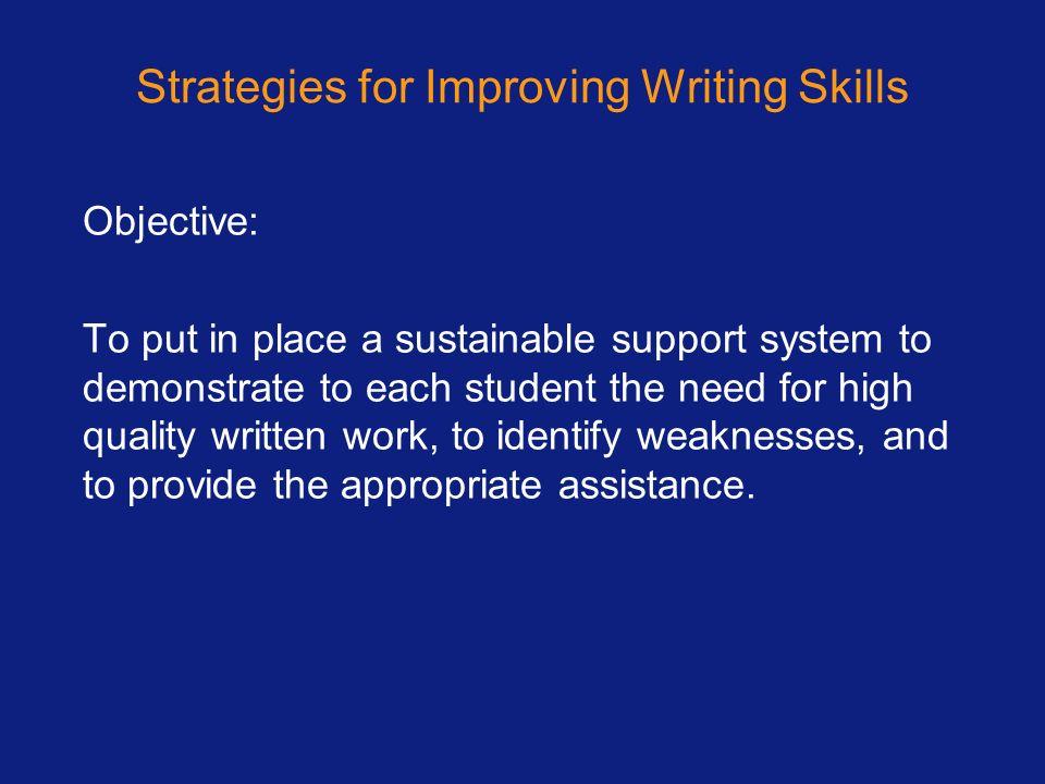 Strategies for Improving Writing Skills