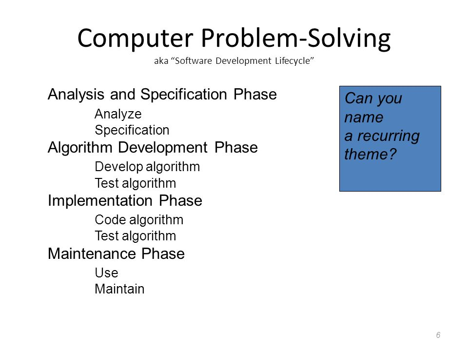Analysis And Problem Solving