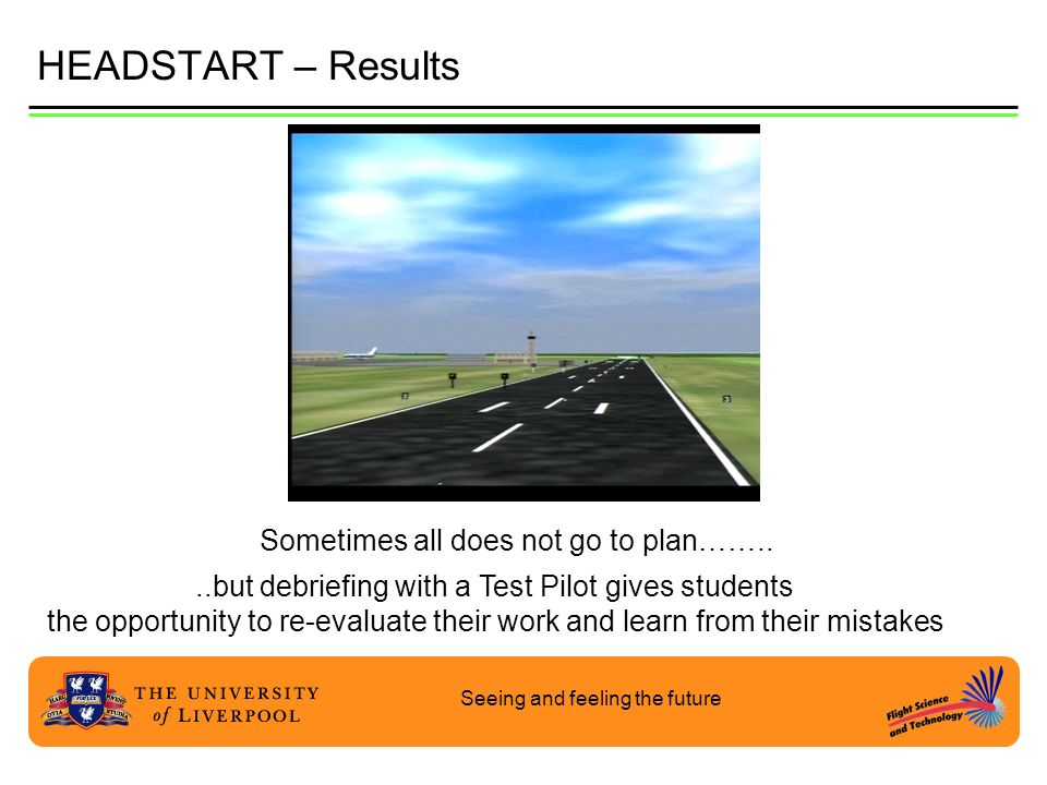 HEADSTART – Results Sometimes all does not go to plan……..