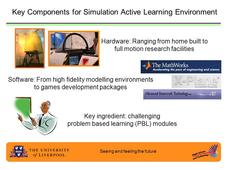 Key Components for Simulation Active Learning Environment