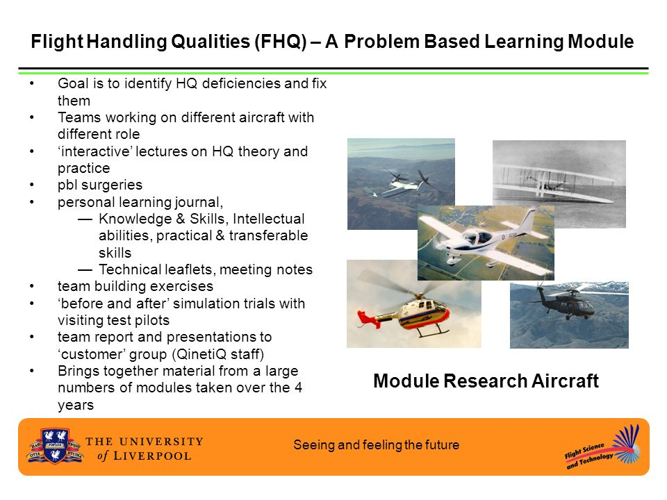 Flight Handling Qualities (FHQ) – A Problem Based Learning Module