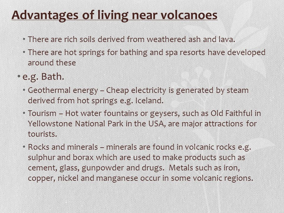 benefits living near a volcano Essays - largest database of quality sample essays and research papers on benefits living near a volcano.