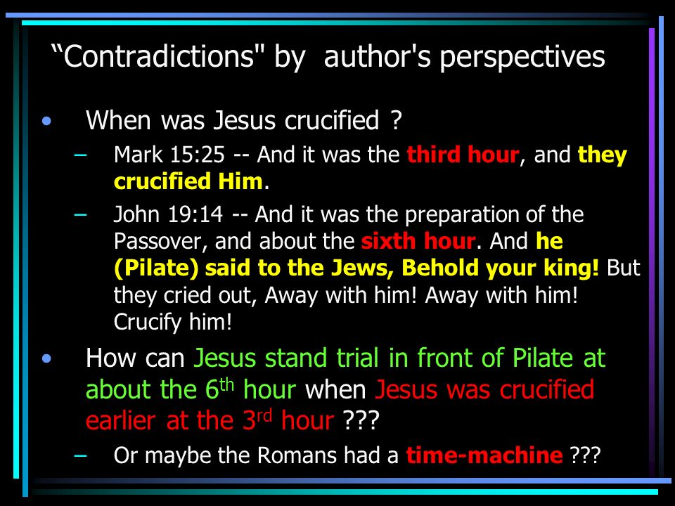 Contradictions by author s perspectives