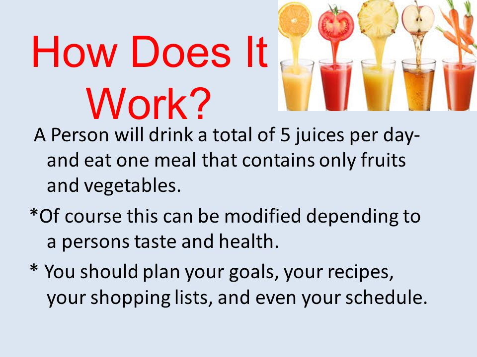 Does juice fasting work advise