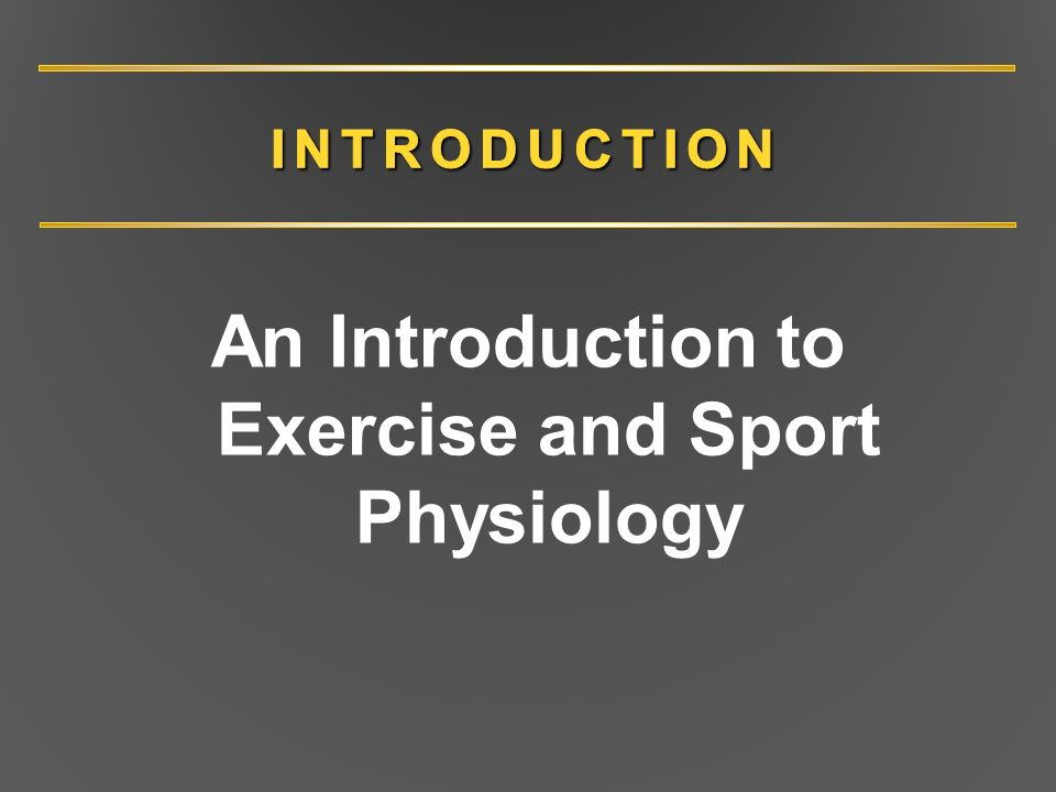 an introduction to the importance of exercise Introduction importance of sports nutrition step 1: energize fueling and hydration before exercise s – a free powerpoint ppt presentation (displayed as a flash slide show) on powershowcom - id: 9b2ea-ogywz.