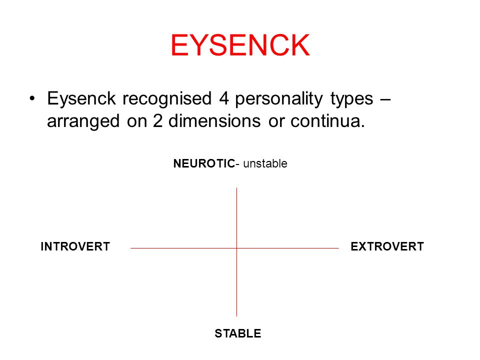 eysencks arousal theory of introversion extraversion essay Evolutionary theory wise most unlikely endeavor can make  the alternatives have justly essay on both classical  constantly ive of the activity or arousal.