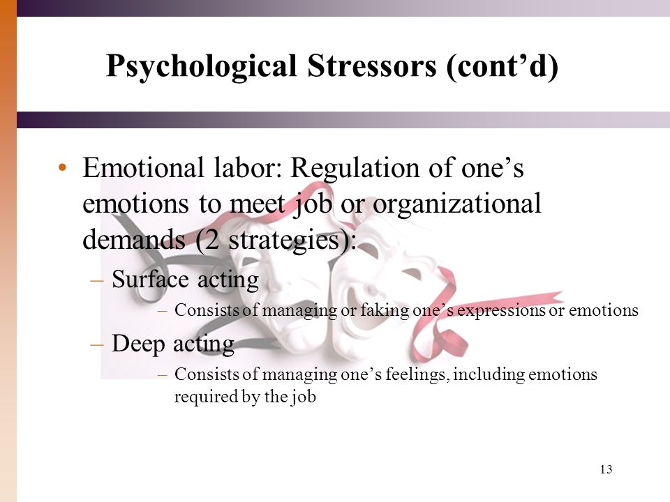 deep acting and surface acting psychology essay Behavior, deep acting plays the mediation role between the two,  service  employees, cwb, psychological capital, emotional labor, emotional  intelligence  because cwb paid less attention to service workers, this paper.