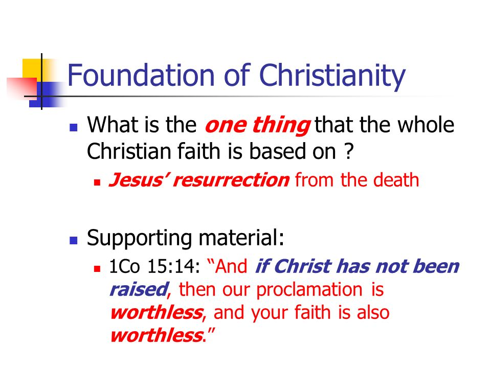 Foundation of Christianity