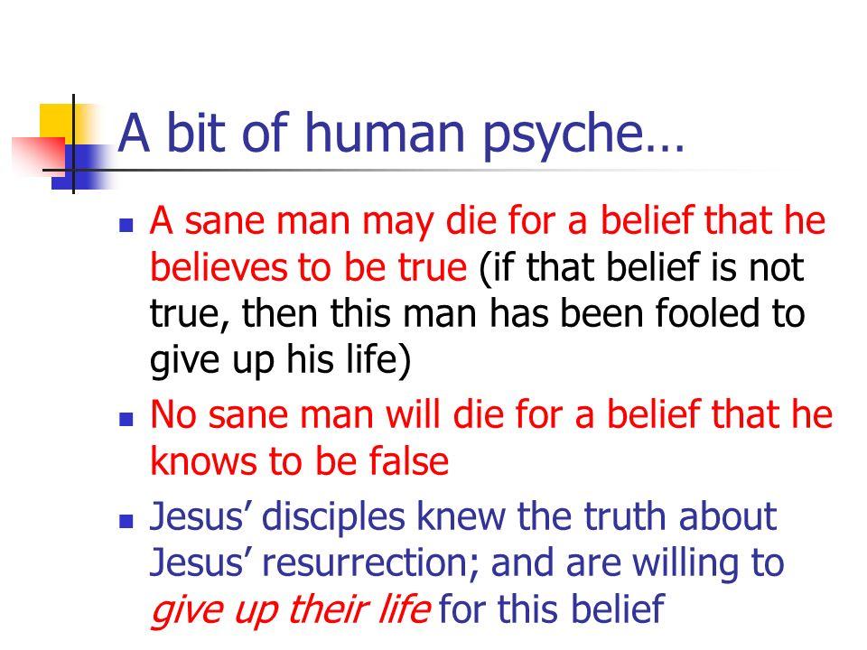 A bit of human psyche…