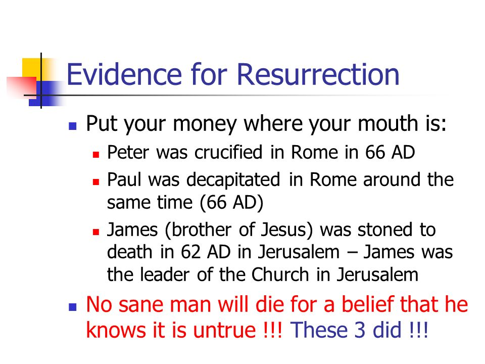 Evidence for Resurrection