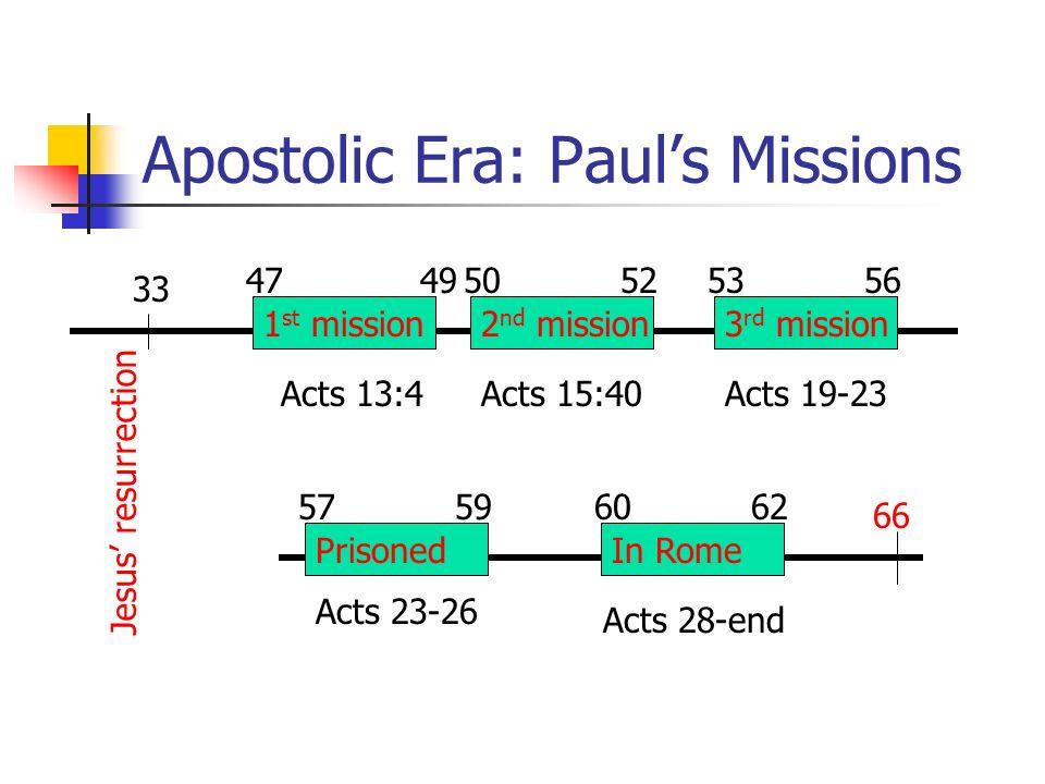 Apostolic Era: Paul's Missions