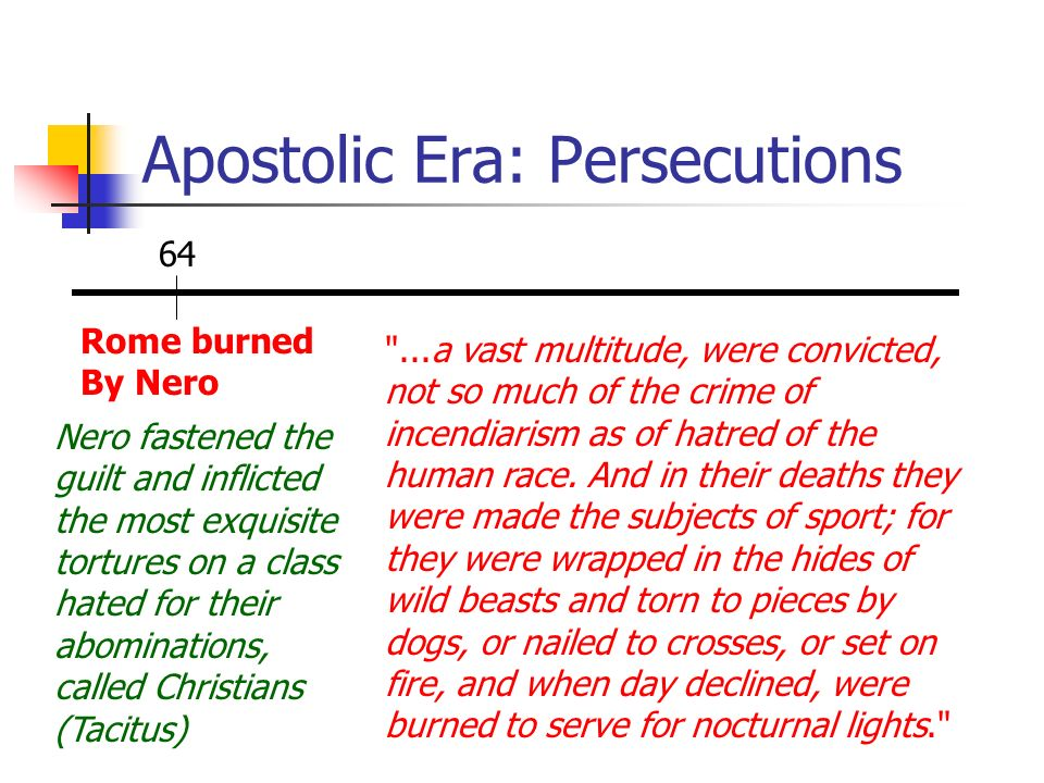 Apostolic Era: Persecutions